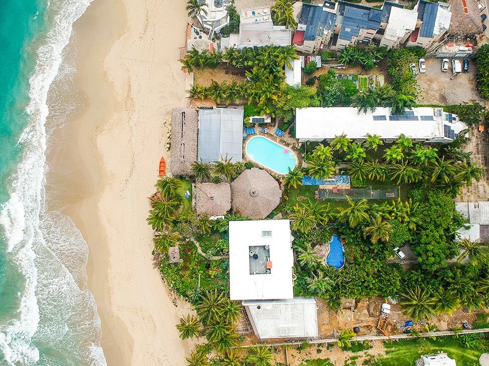 Aerial Drone Shot of Extreme Hotel Cabarete