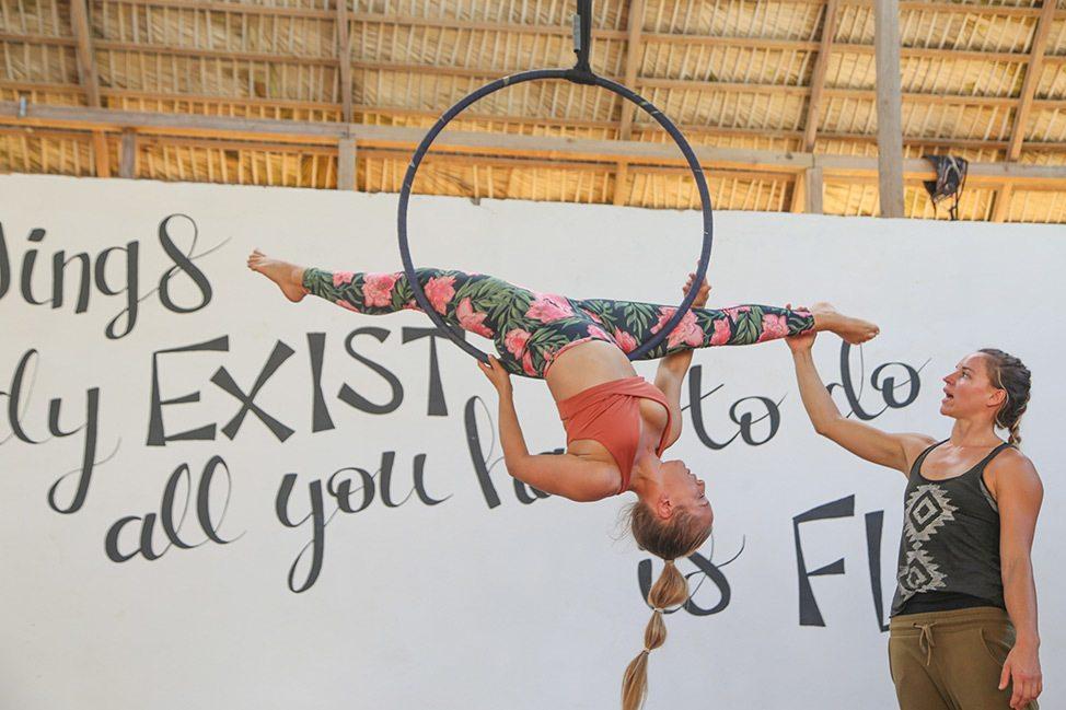 Aerial Hook Lyra Class at Extreme Circus Cabarete