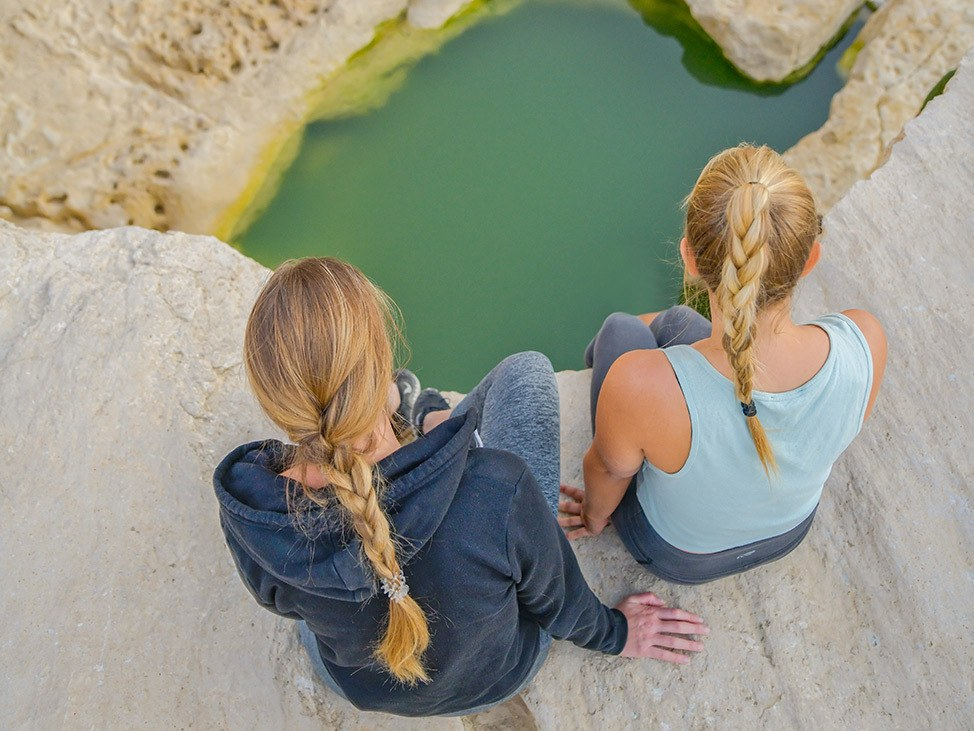 Hiking in the Negev Desert, Israel
