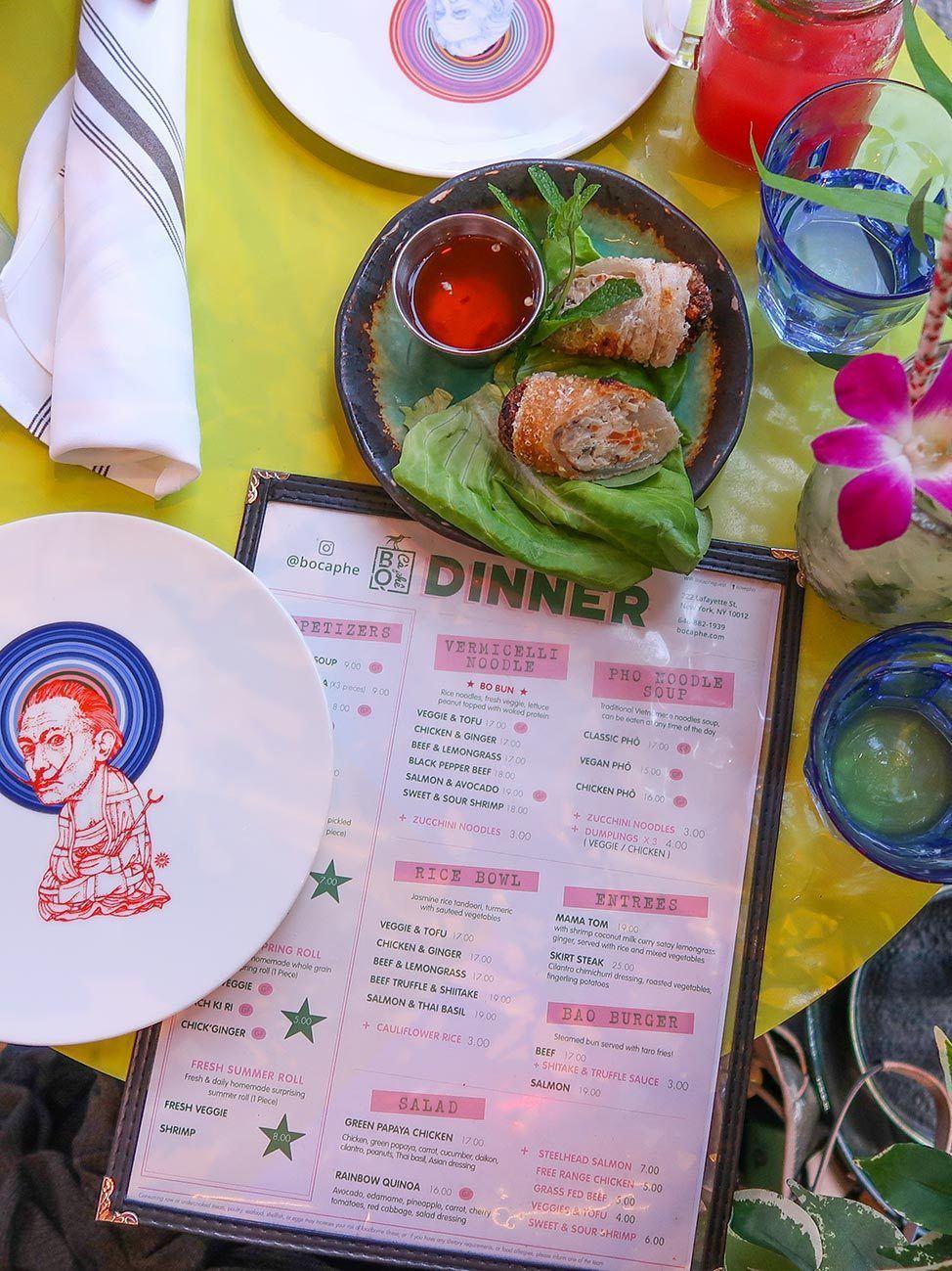 Dinner at BoCaphe New York