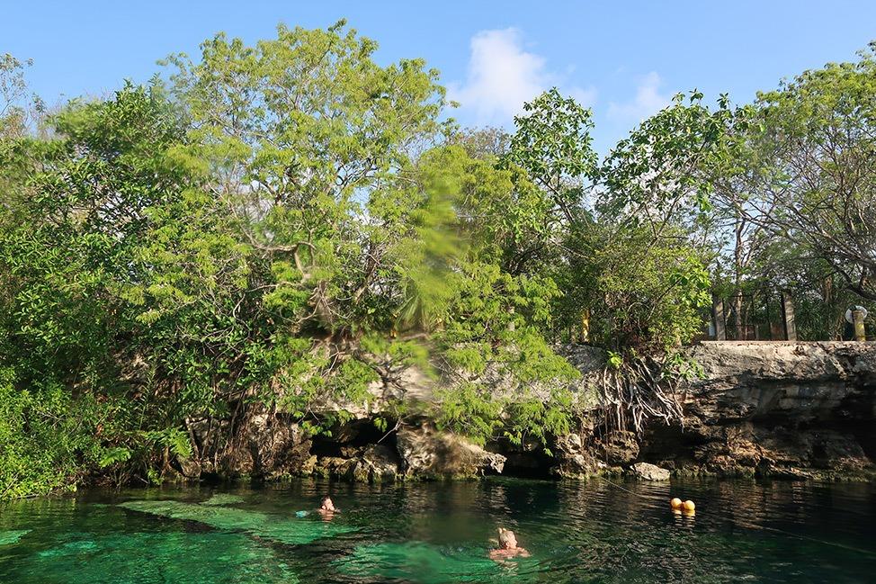 Cenote Cristalino near Barceló Maya Caribe