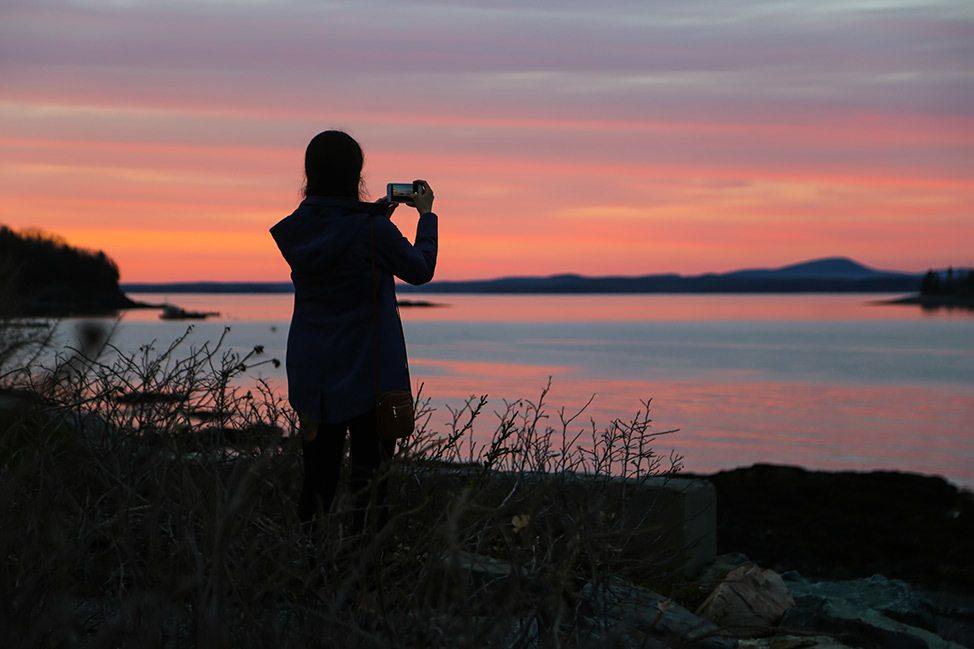 Sunset at Bar Harbor, Maine