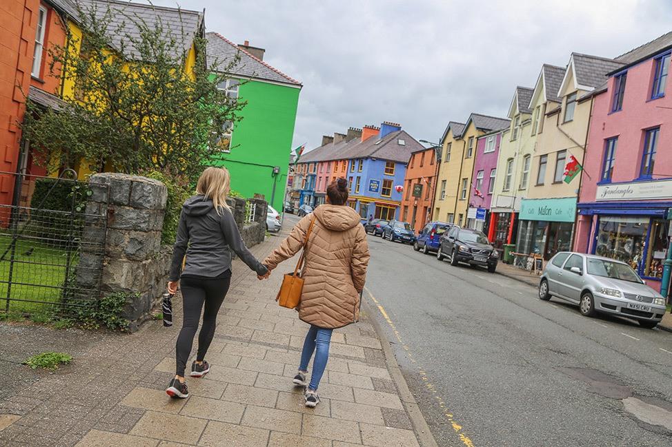 Walking around Llanberis, Wales