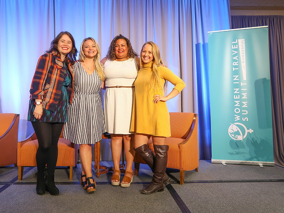 Speaking at the keynote panel at The 2019 Women In Travel Summit in Portland, Maine
