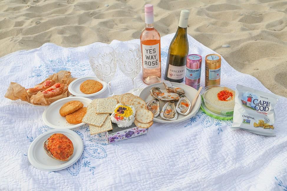 Sunset picnic in Menemsha, Martha's Vineyard