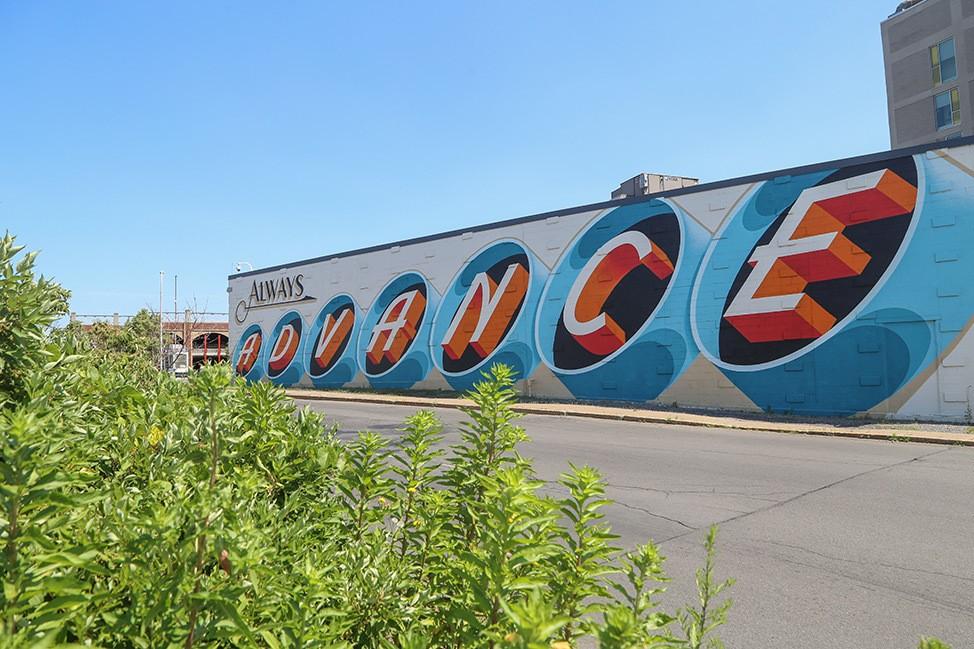 Always Advance mural in Syracuse, New York