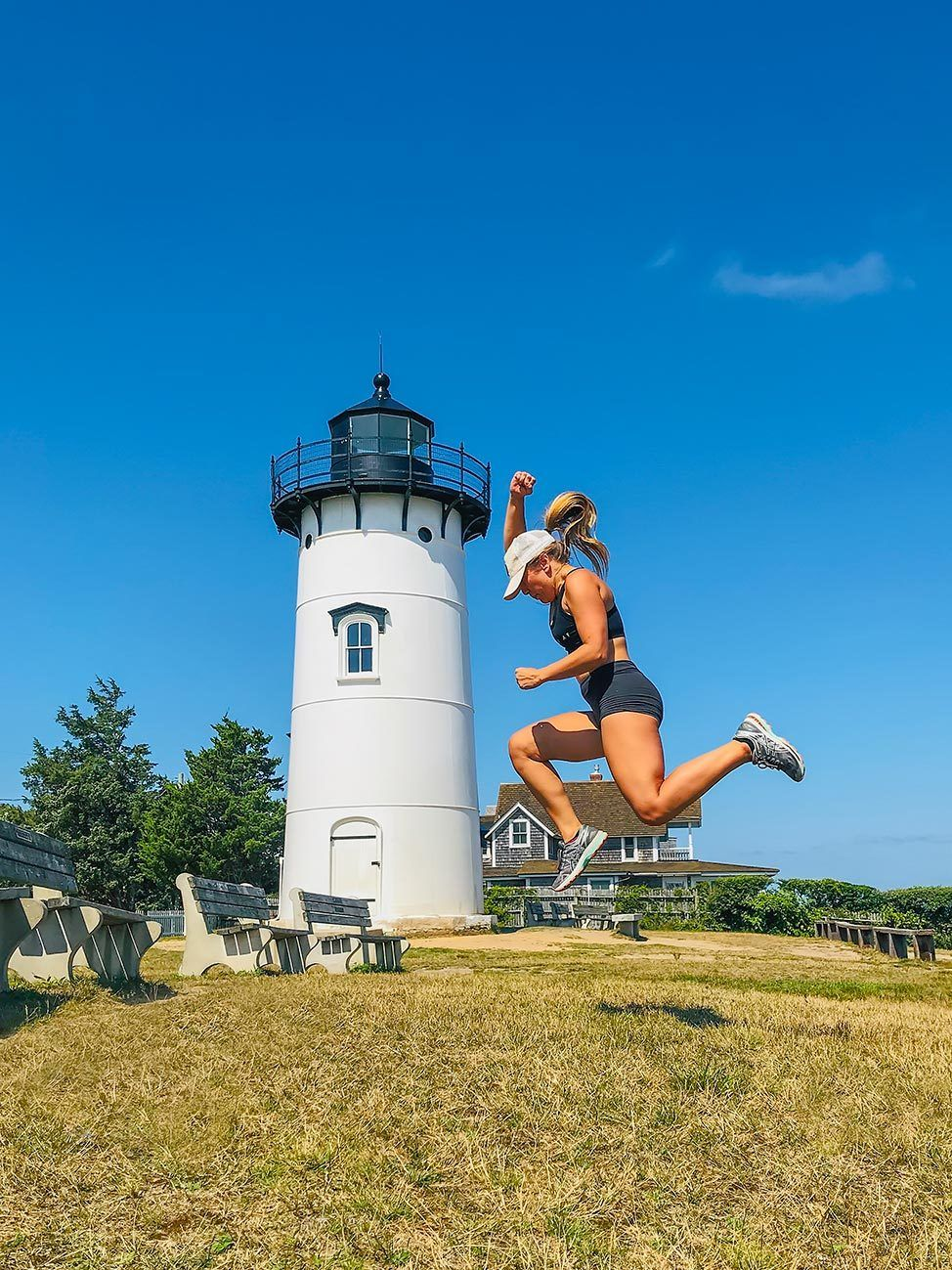 Jogging to East Chop Lighthouse