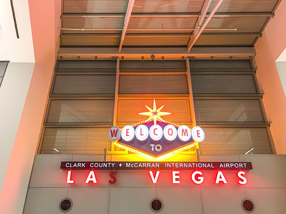 Las Vegas Airport sign