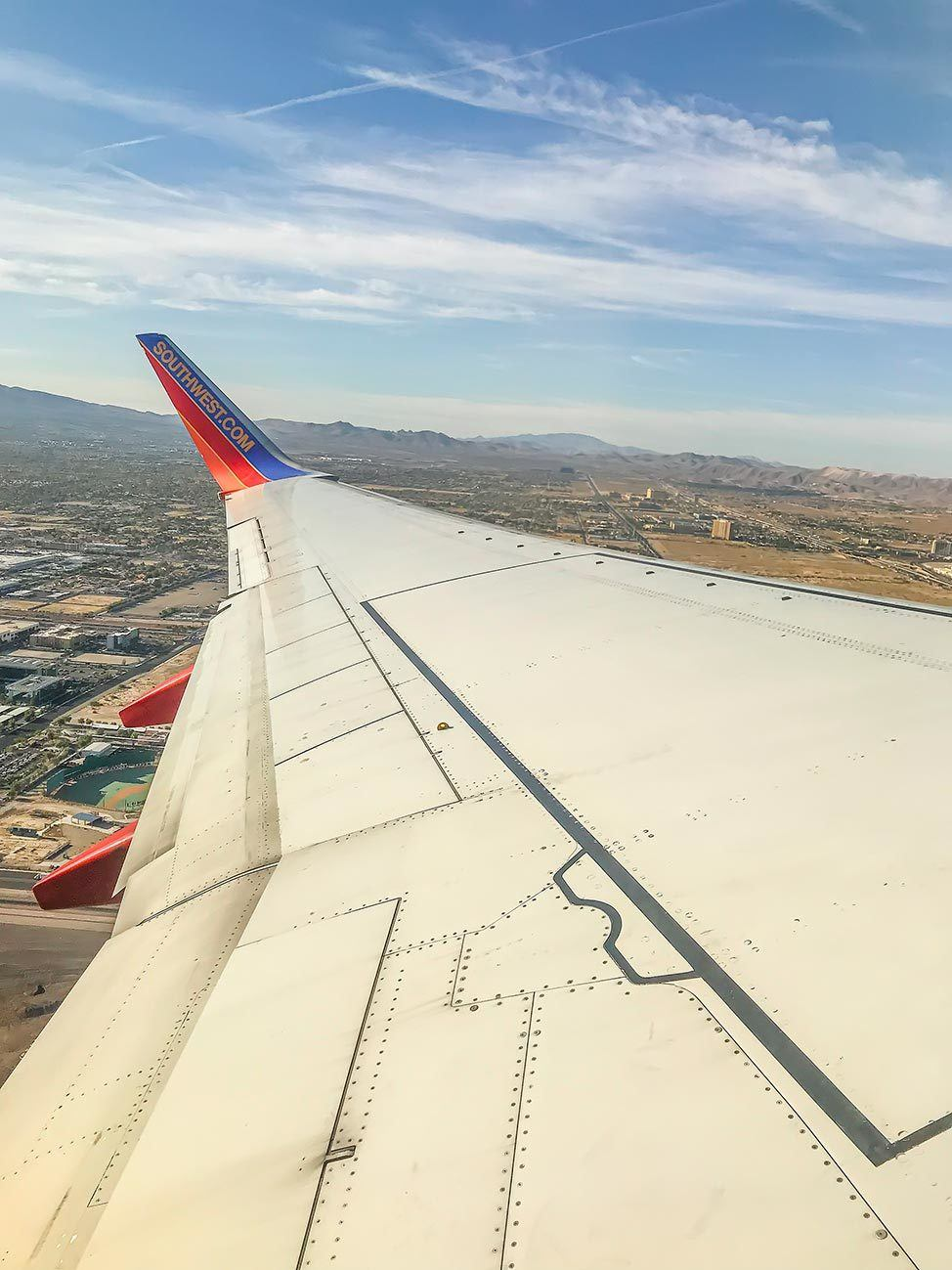 Southwest flight to Burbank Airport
