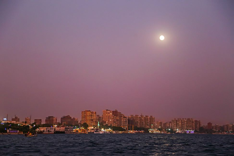 Sunset on a felucca in Cairo
