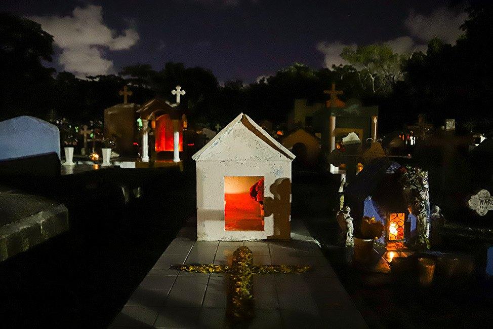 Dia De Los Muertos at Panteon Municipal Los Olivos in Mexico