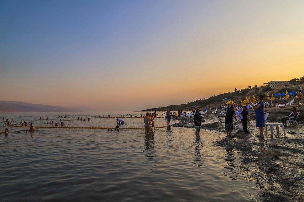 Sunset at Kalia Beach, Dead Sea