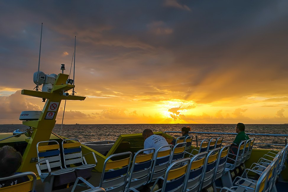 Sunrise on the ferry to Isla Mujeres, Mexico
