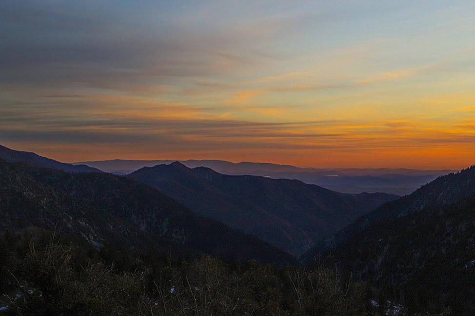 Sunset at Big Bear, California