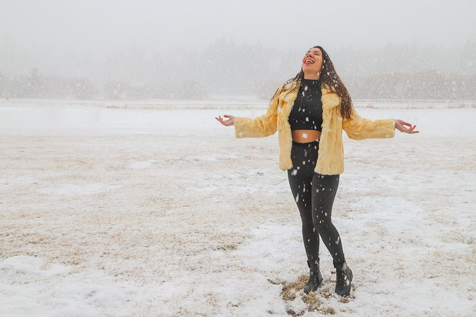 Snow in Big Bear, California