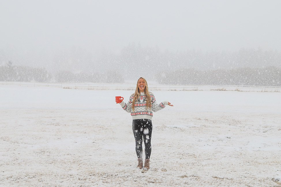 Snowy Morning in Big Bear, California