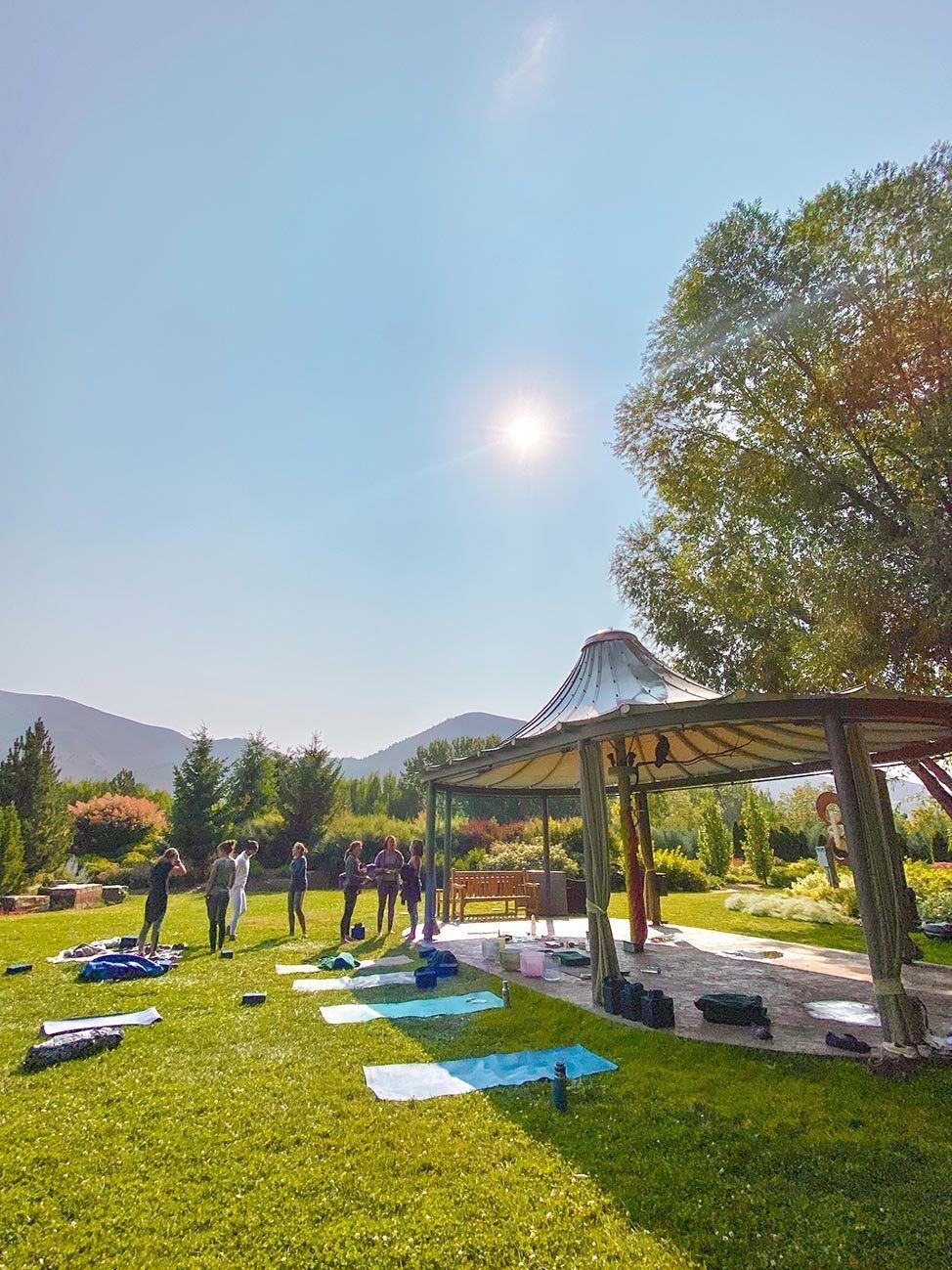 Yoga at Sawtooth Botanical Garden