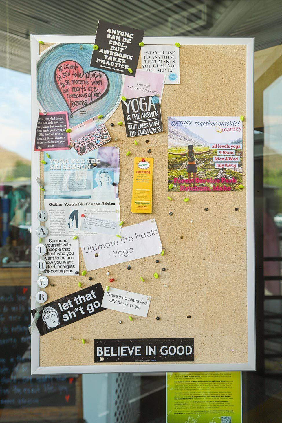 Gather Yoga Studio, Ketchum, Idaho
