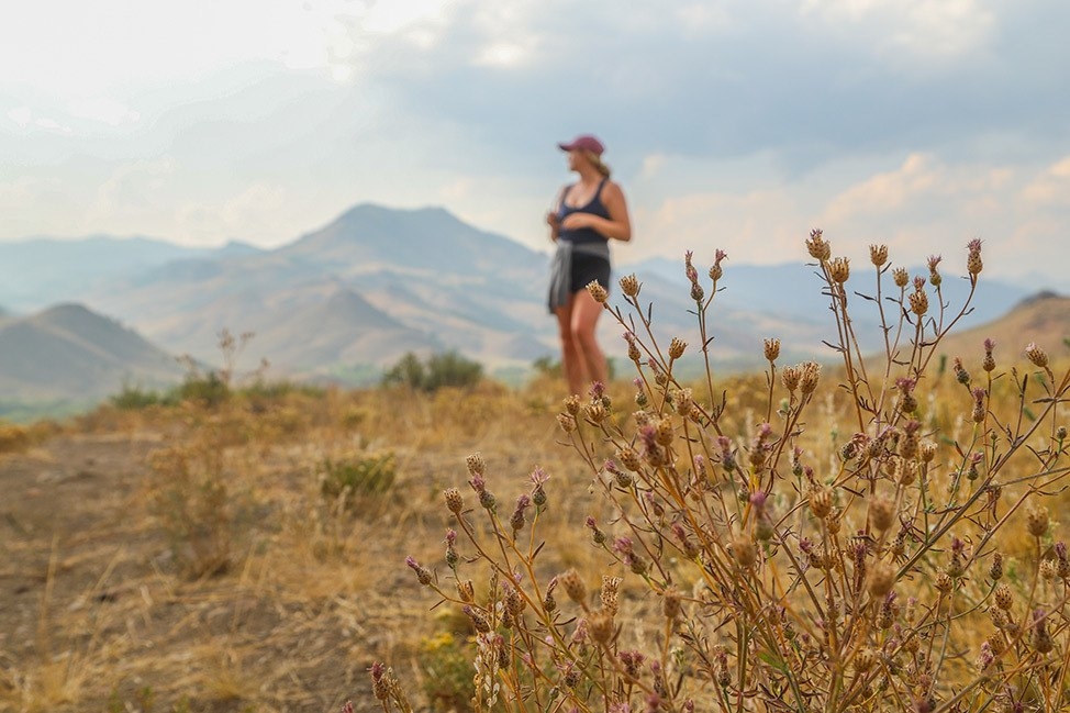 Hiking on White Cloud Nine, Sun Valley, Idaho