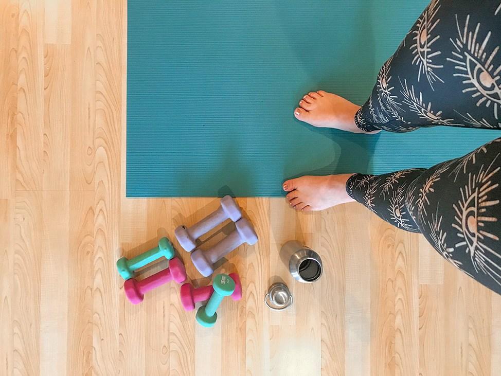 Wander Women Virtual Retreat doing yoga at home