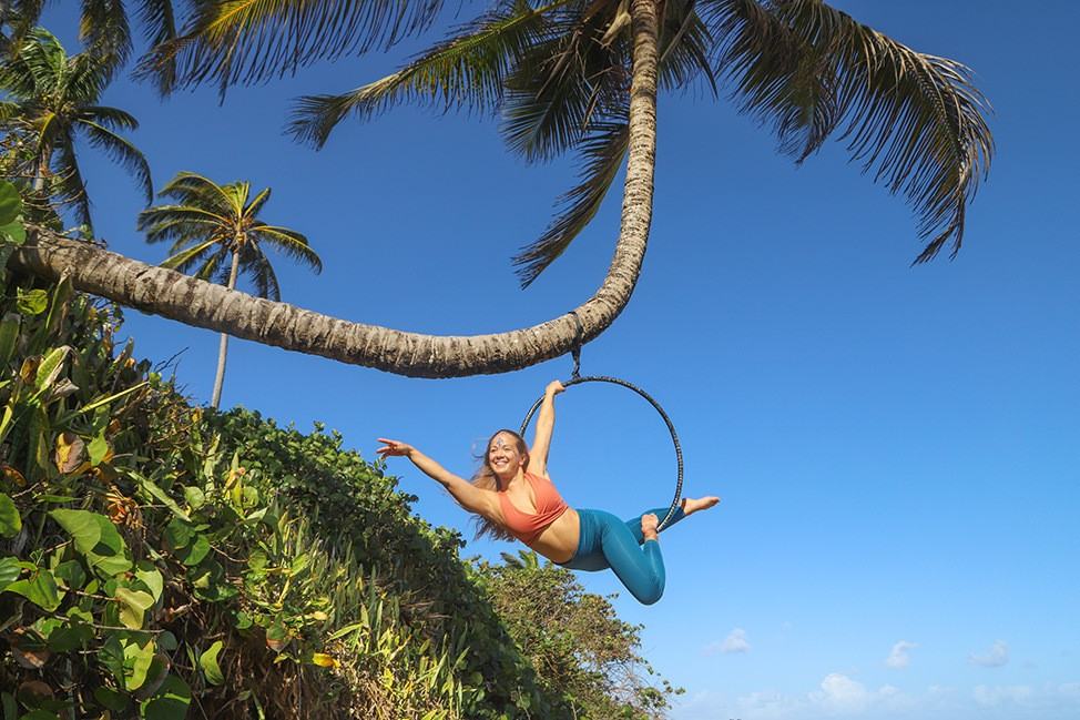 Aerial Lyra Photoshoot in the Dominican Republic