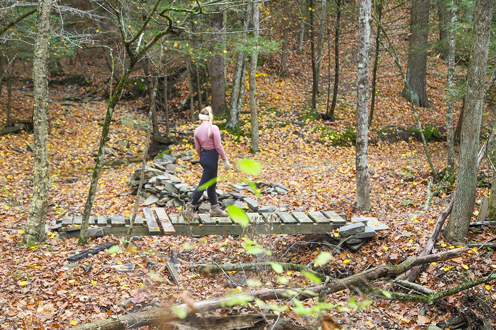 Hiking Two Rivers State Park in Waverly, New York
