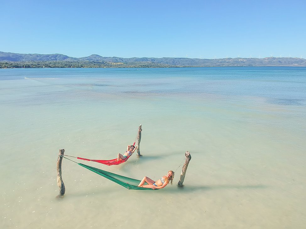 The beach at Punta Rucia Lodge