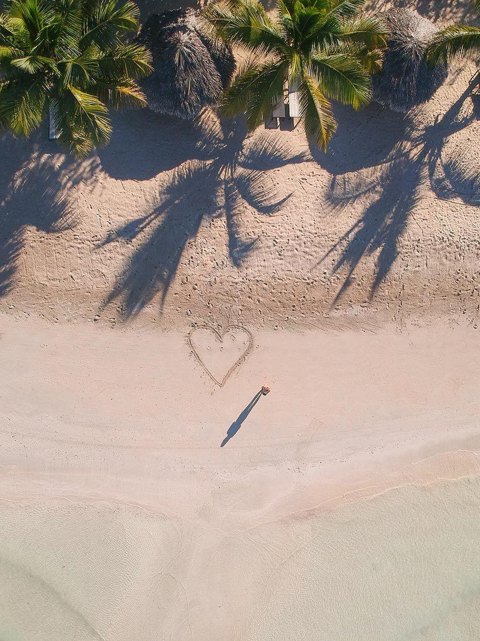 Aerial shot of Punta Rucia Dominican Republic