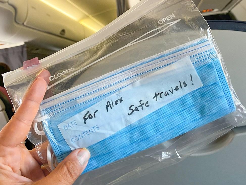 Wander Women Travel Workshop 2021 face masks on plane