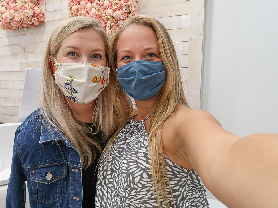 Wander Women Travel Workshop 2021 two sisters wearing face masks
