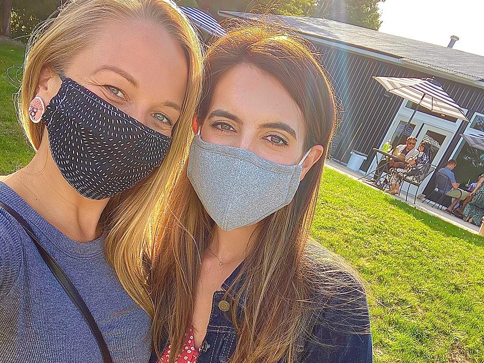 Wander Women Travel Workshop 2021 two friends wearing face masks