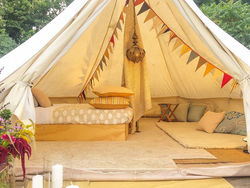 Wander Women Hudson Valley: luxury bell tent glamping