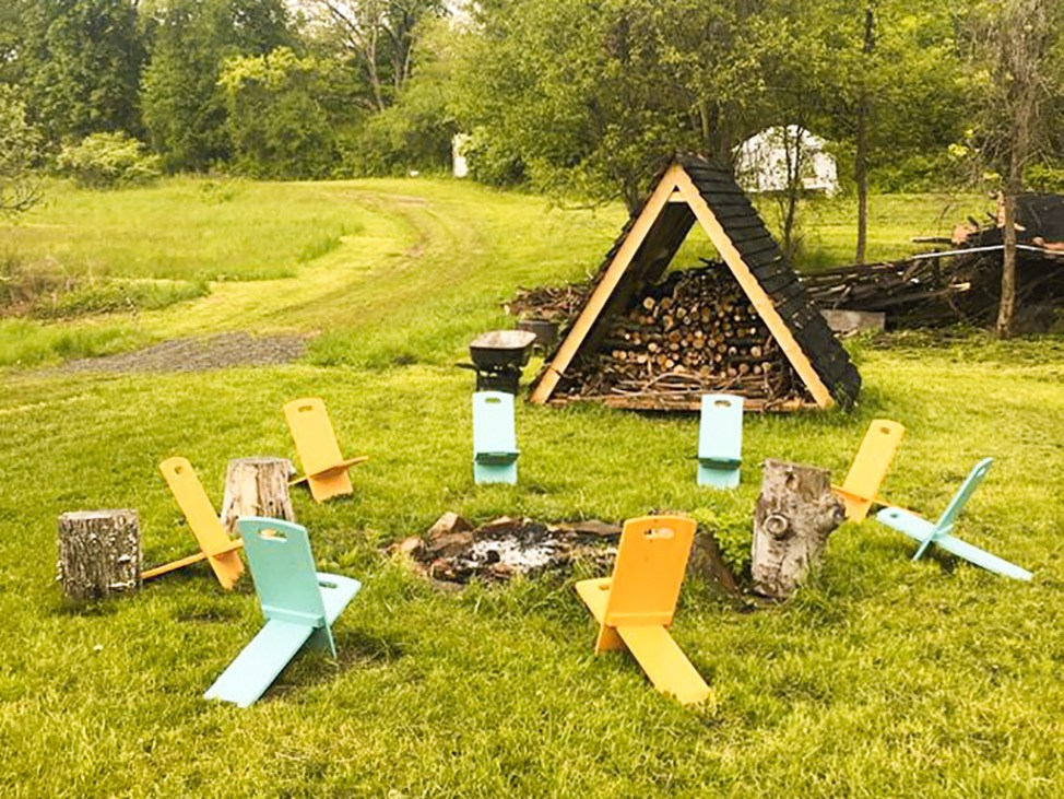 Wander Women Hudson Valley: cute glamping fire pit in upstate New York
