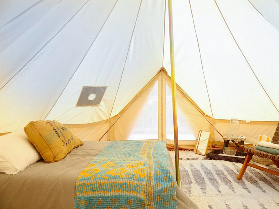 Wander Women Hudson Valley: luxurious bell tent glamping accommodation in New York