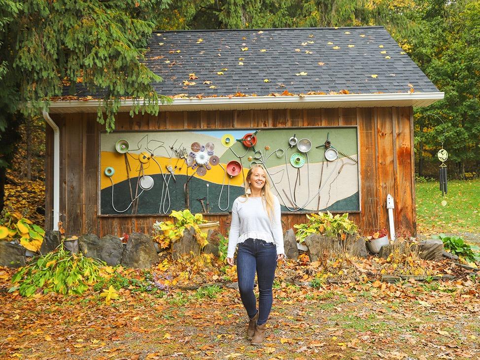 Wander Women Hudson Valley: Alex Baackes in fall foliage