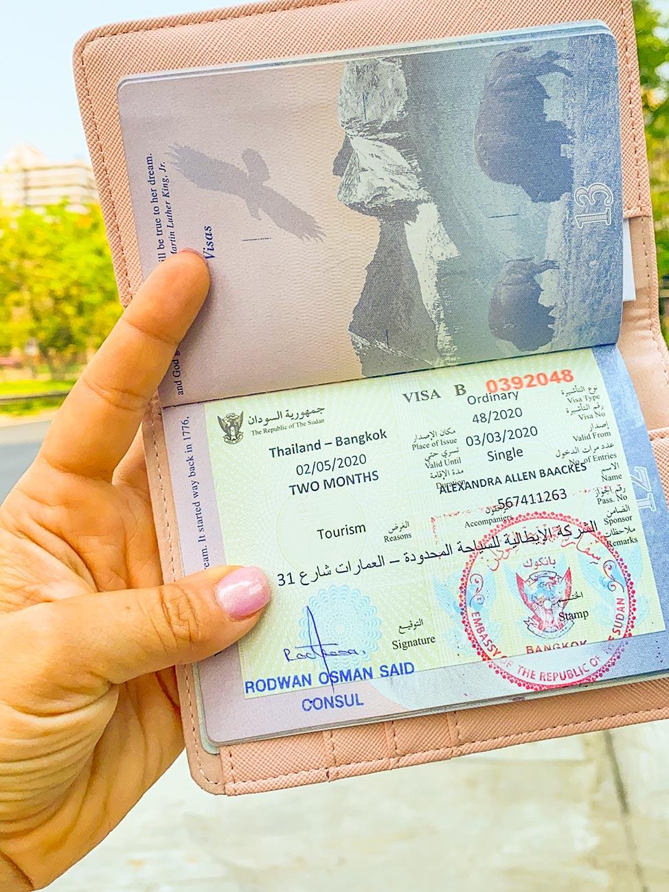 Getting a Sudanese visa in Bangkok