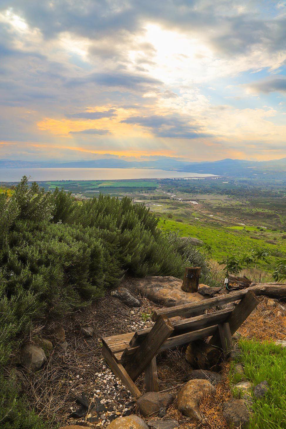 Sunset at Lake Galilee