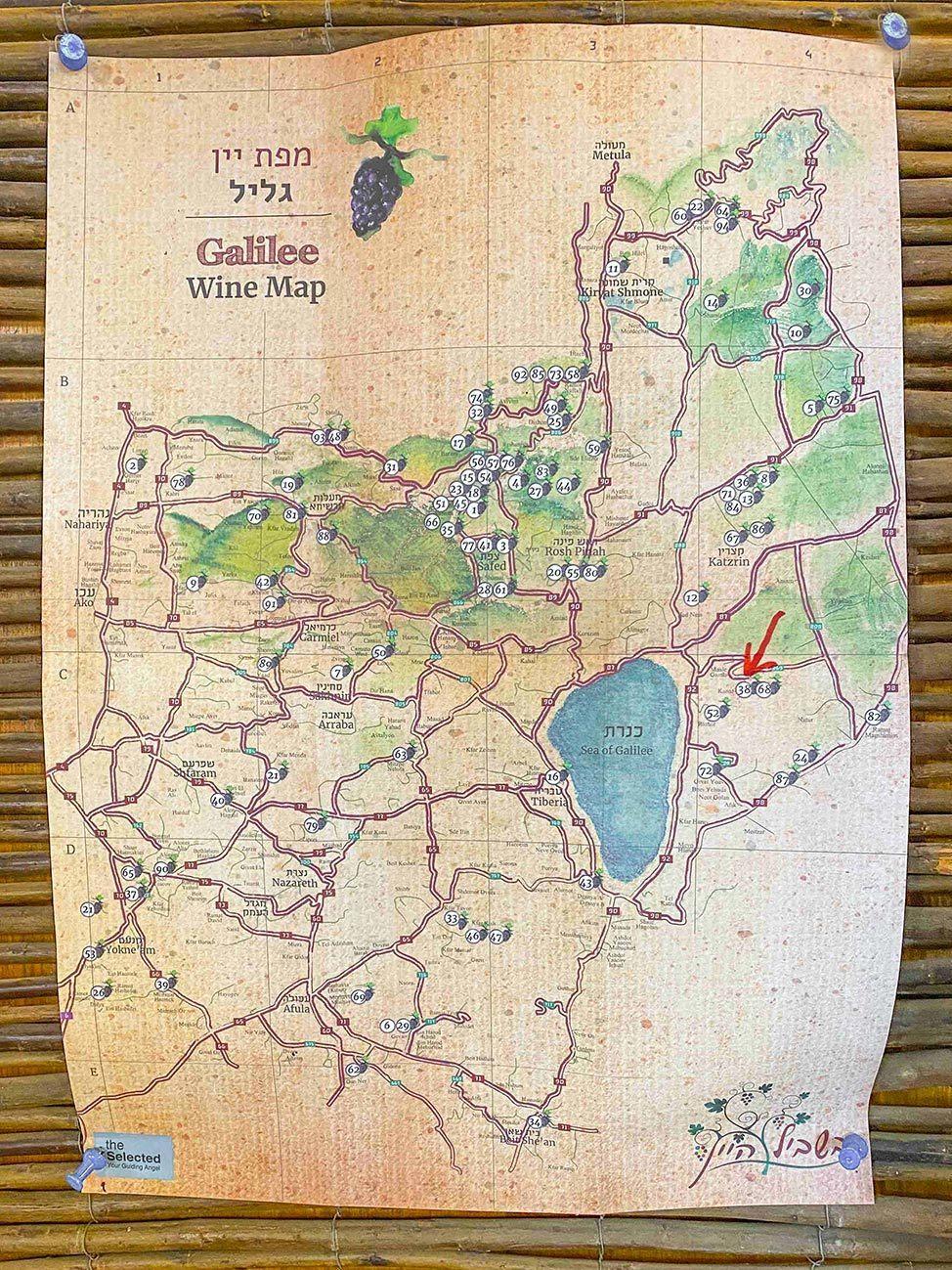 Galilee Wine Region Map