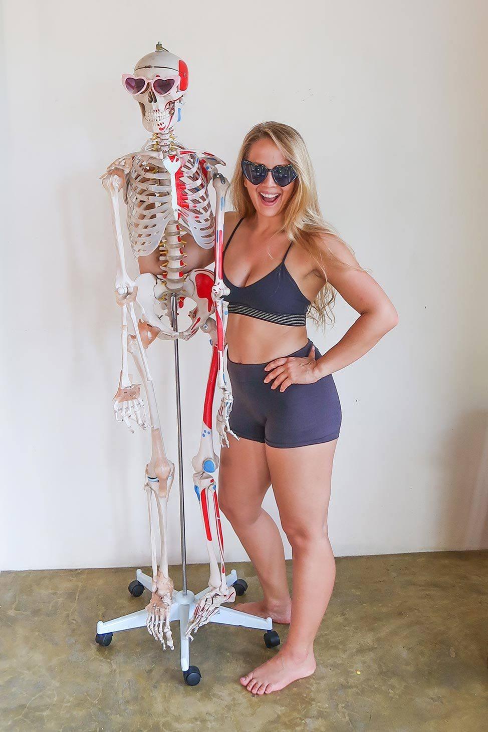 Skeleton Selfie | Ulu Aerial Yoga Teacher Training in Koh Phangan, Thailand