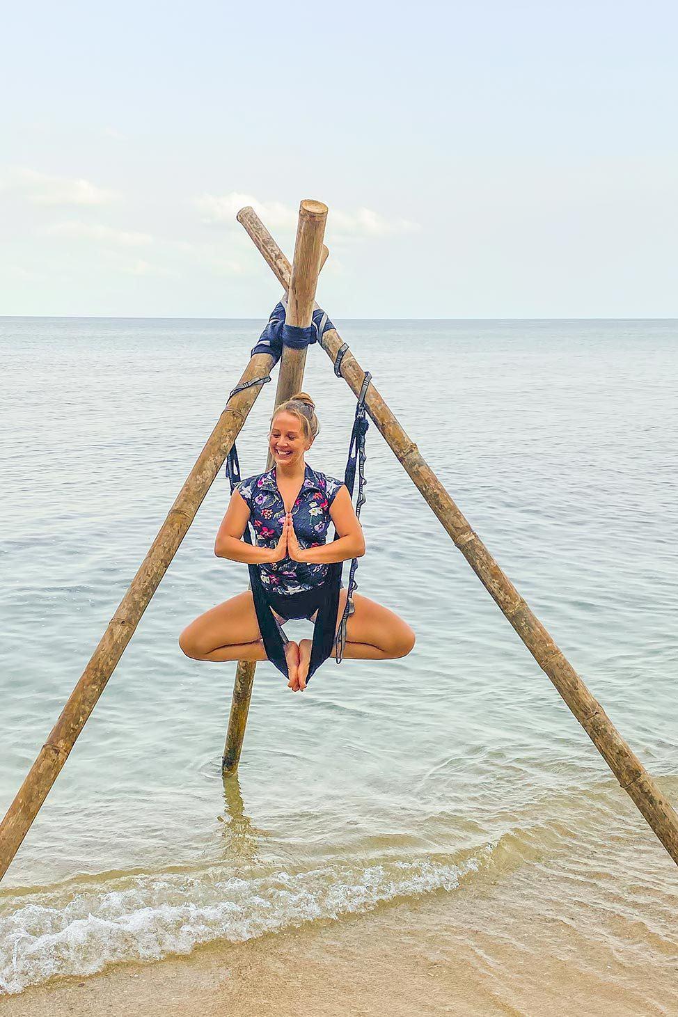 Ulu Aerial Yoga Teacher Training on the beach in Koh Phangan, Thailand