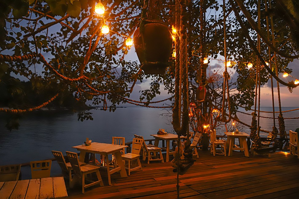 Restaurante Koh Raham, Koh Phangan, Tailandia