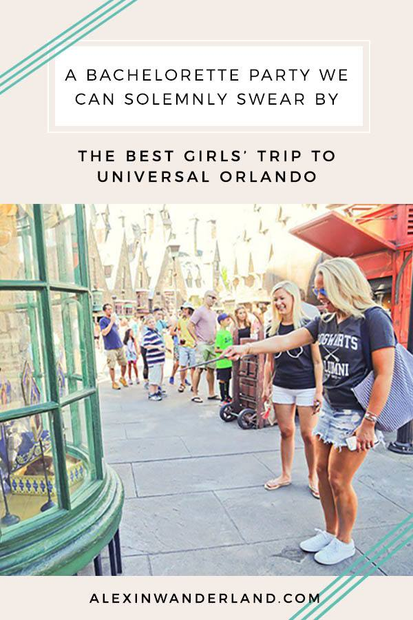 A complete guide to planning a Harry Potter-themed bachelorette party at Universal Orlando Florida