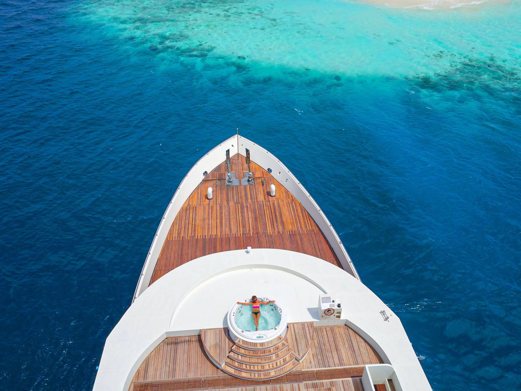 Maldives floating spa retreat